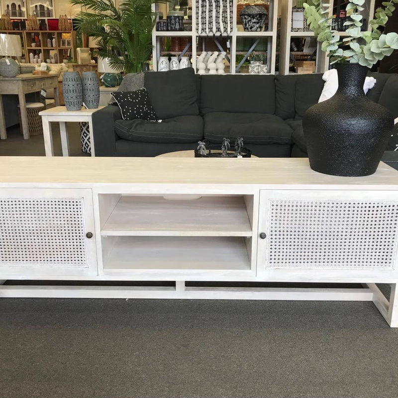 Mango Rattan Tv Unit