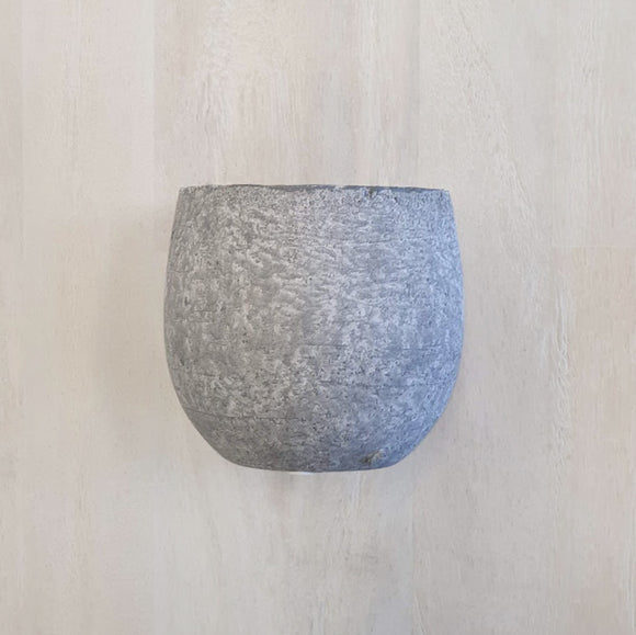 Grey Tub Pot