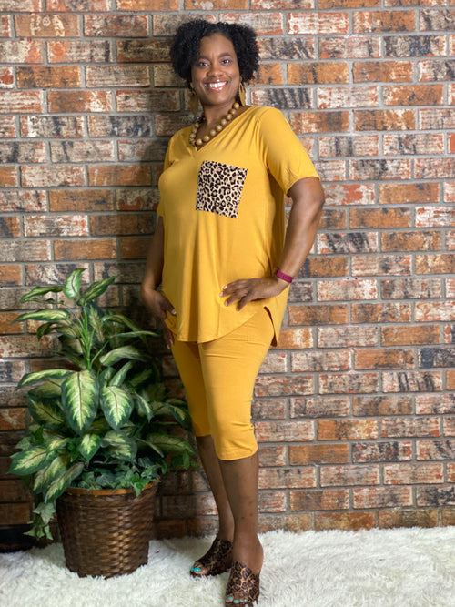 PLUS Leopard Pocket Set Mustard