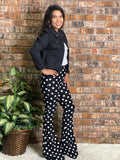 Polka Dot Flare Pants
