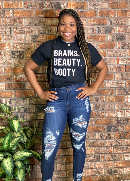Beauty, Brains and Booty Tshirt