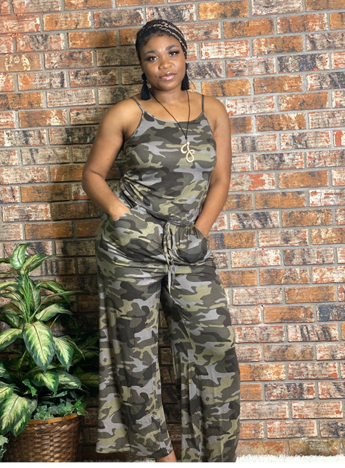 Camouflage Jumpsuit-PLUS