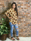 PLUS Big Leopard Print Top