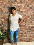 Ivory and Blue Tie Dye Legging Set