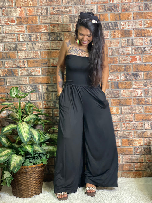 Wide Leg Tube Jumpsuit Regular and Plus-