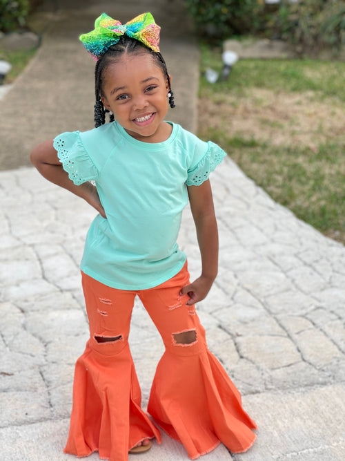 Children Flare Pants-Orange