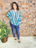 Green Stripe Boxy Top
