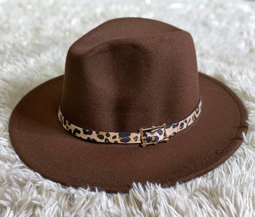 Fedora Hat with Leopard