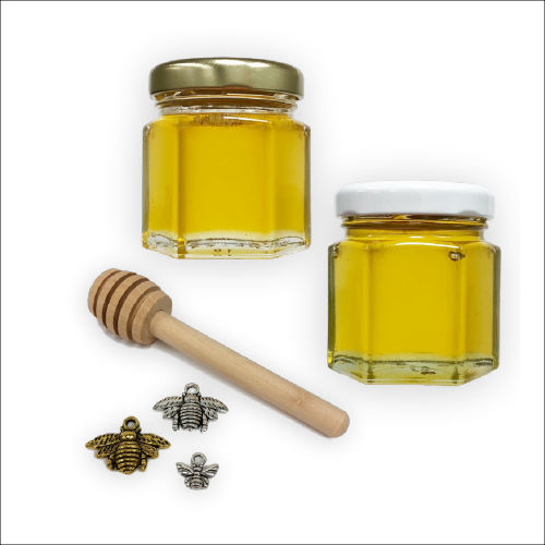 2 oz Hexagon Honey Favor Kit