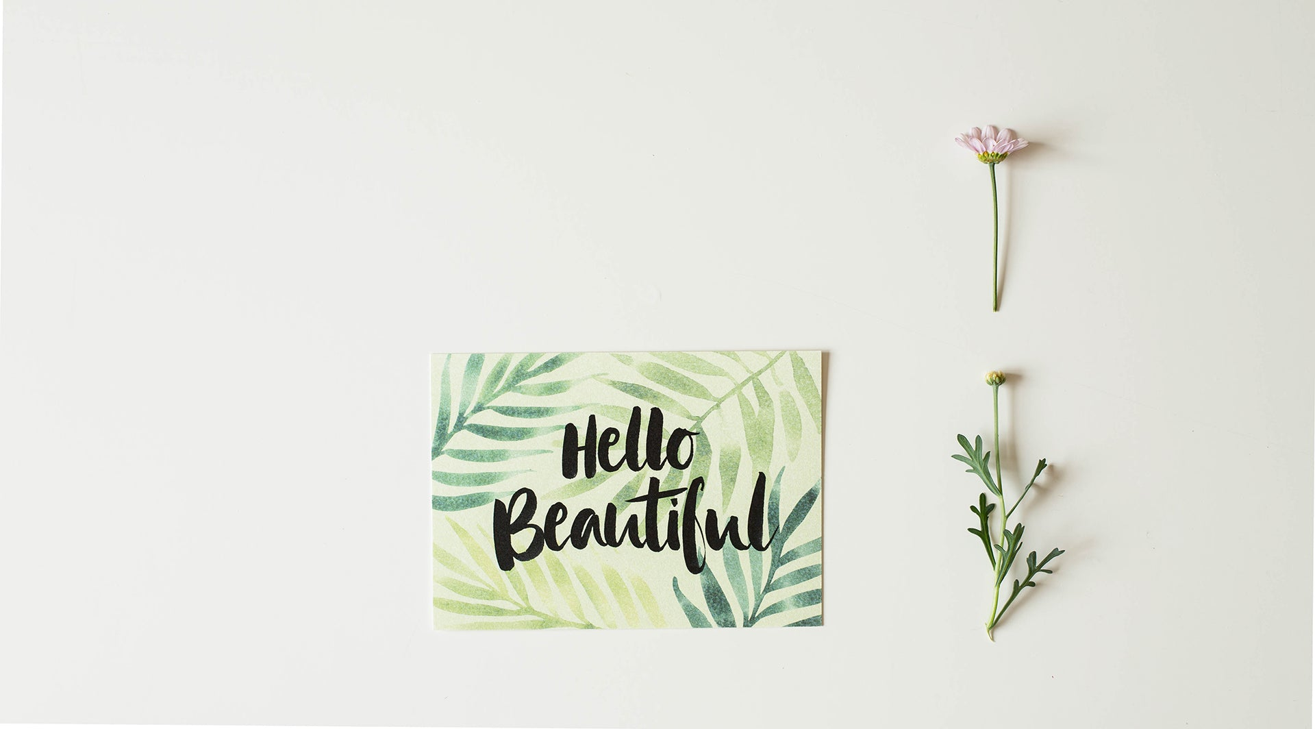 'Hello Beautiful' Postkarte - Lily Design