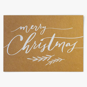 """Merry Christmas"" Postkarte - Lily Design"