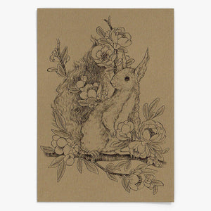 """Squirrel"" Postkarte - Lily Design"