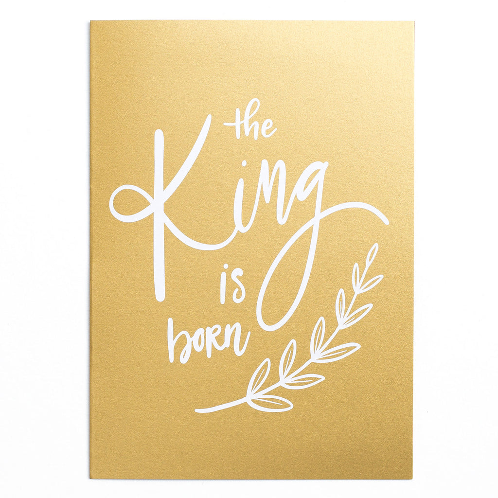 'The King Is Born' Weihnachts-Grusskarte - Lily Design