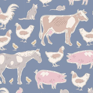 TINY FARM ANIMALS BLUE