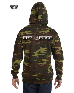 Cry To The Blind Camo Pullover Hoodie