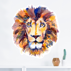 How our watercolour lion wall decal came to life