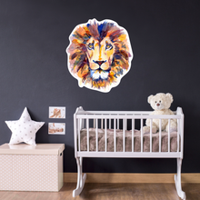 lion wall art - nursery wall decal