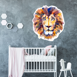 nursery wall decal - lion head