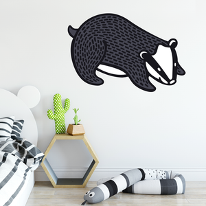 Badger Woodland Wall Decal - Safari Nursery