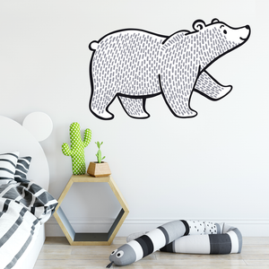 Woodland Bear Wall Decal - Multiple Sizes - Eco Nursery Decor