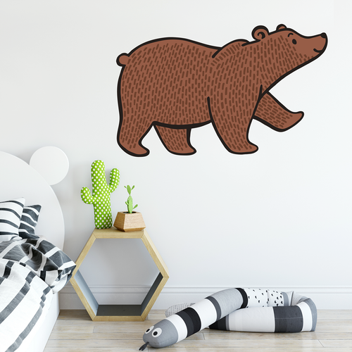 Bear Woodland Wall Decal - Safari Nursery