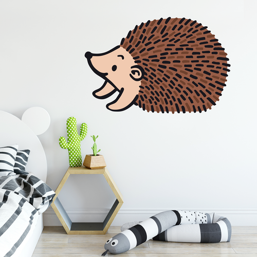 colour hedgehog wall sticker