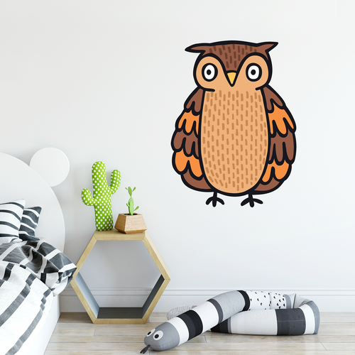 colour owl wall sticker