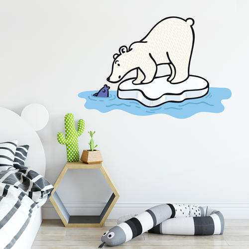 Wall sticker polar bear illustration