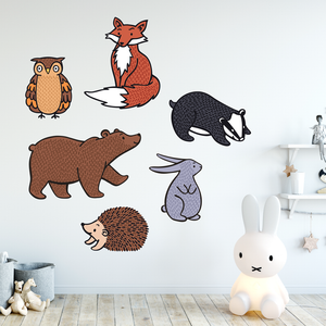 pack of colour animal wall stickers