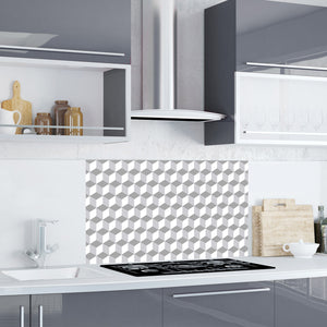 grey kitchen splashback tile sticker