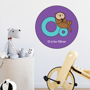 customisable wall decal - letter O
