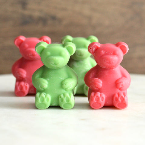 Cranberry Limeade Soy Scented Wax Melt Bears - 4 pc