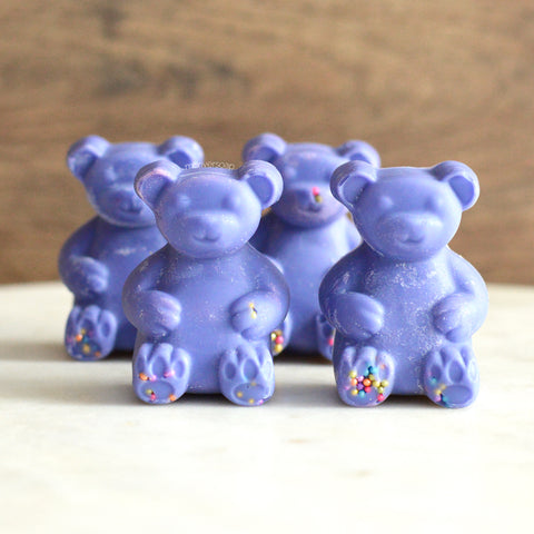 Huckleberry Sugar Blossom Soy Scented Wax Melt Bears - 4 pc