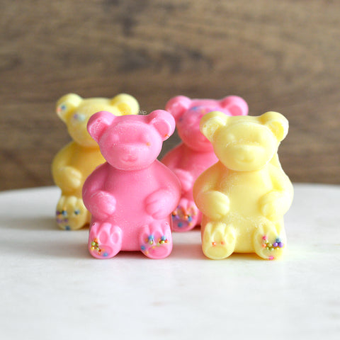 Lemon-Melon-Ade Bubble Gum Soy Scented Wax Melt Bears - 4 pc