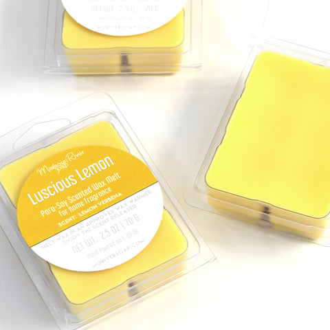 Luscious Lemon Scented Wax Melt Clamshell