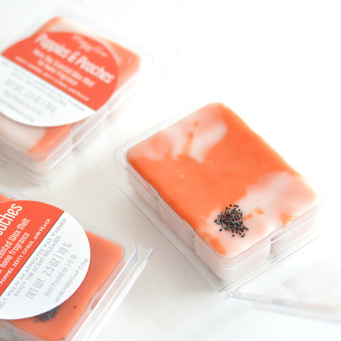 Poppies & Peaches Scented Wax Melt Clamshell