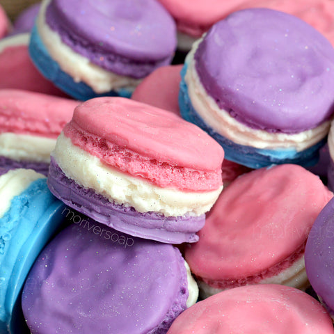 Unicorn Sweet Treats Soy Scented Wax Melt Macarons - 2 pc