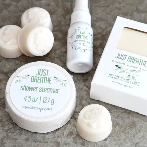 Just Breathe 4 pc Eucalyptus & Menthol Set