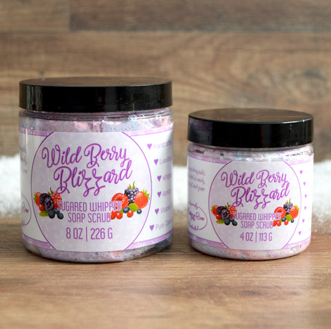Wild Berry Blizzard Sugared Whipped Soap Scrub