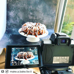 How to use an infinity curve food product photography styling stylist cake bake baking