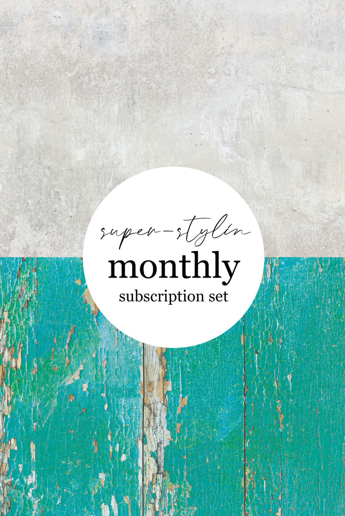 SUPER-STYLIN' SET. A1 Backdrop Monthly Subscription. Two stylist-selected, seasonal backdrops with 10% OFF & FREE UK P&P