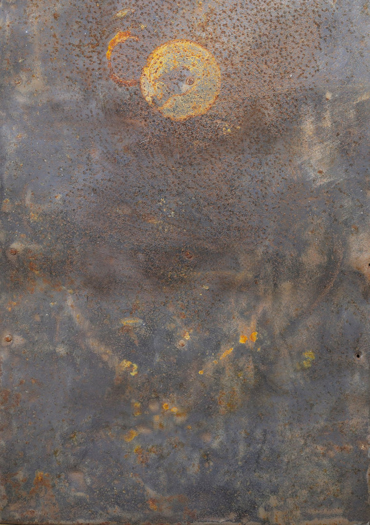 142. 'Hallow' curated metal design printed photography background, A1 size paper sheet