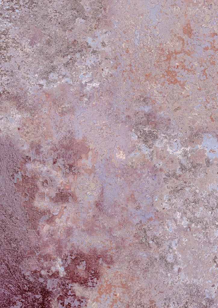 156. 'Reykjavik' rusty paint effect printed photography background, A1 size paper sheet
