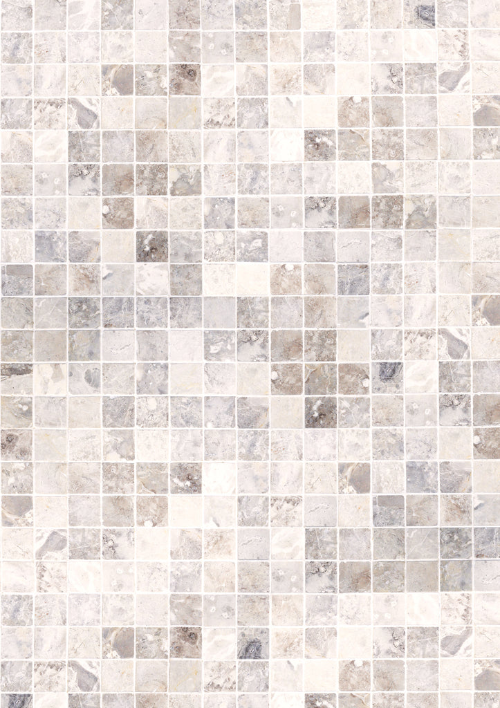 171. 'Spa' marble mosaic tile printed photography background, A1 size paper sheet