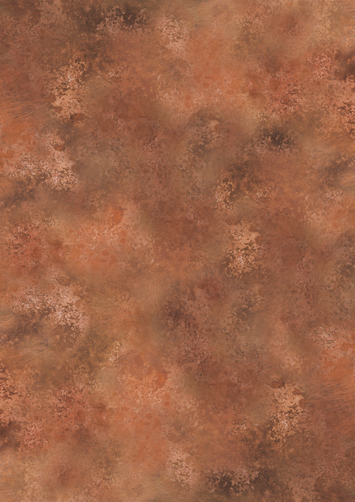 135. Large 'Bright Copper' metal patina effect photography background, A0 size