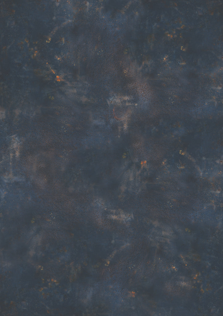 1014. Large 'Lauryn' rusted dark blue effect printed photography background, A0 size paper sheet
