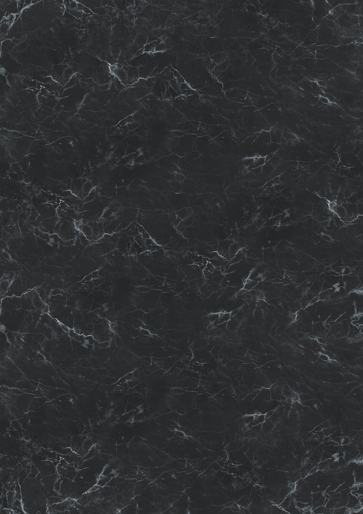 1019. Large 'Leo' black marble effect printed photography background, A0 size paper sheet