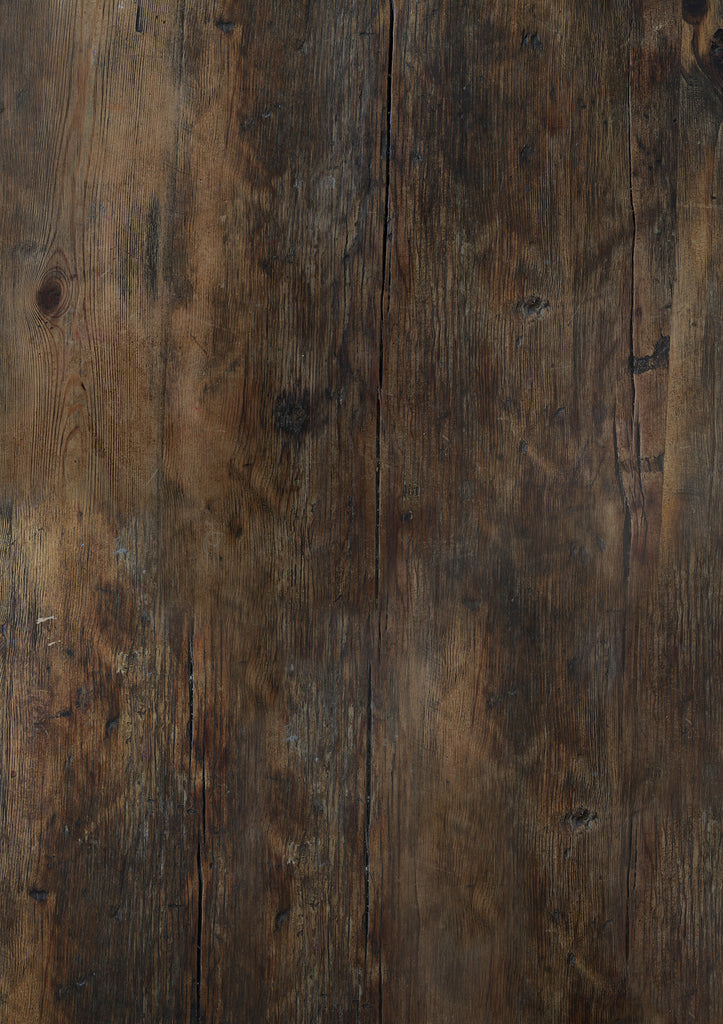 141. 'Galley' old, dark wood effect printed photography background, A1 size paper sheet