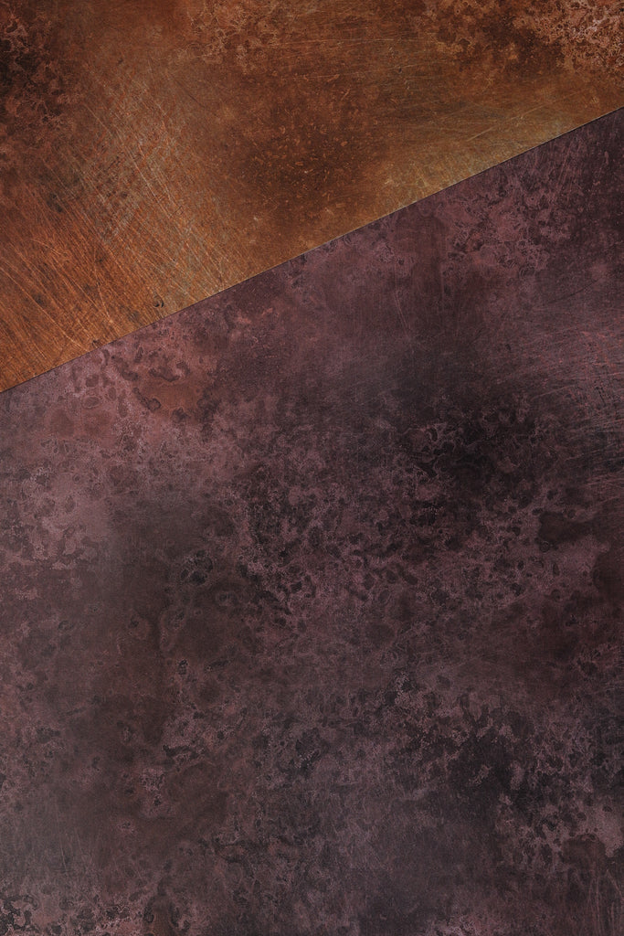 170. 'Earthy Copper' metal patina effect printed photography background, A1 size paper sheet