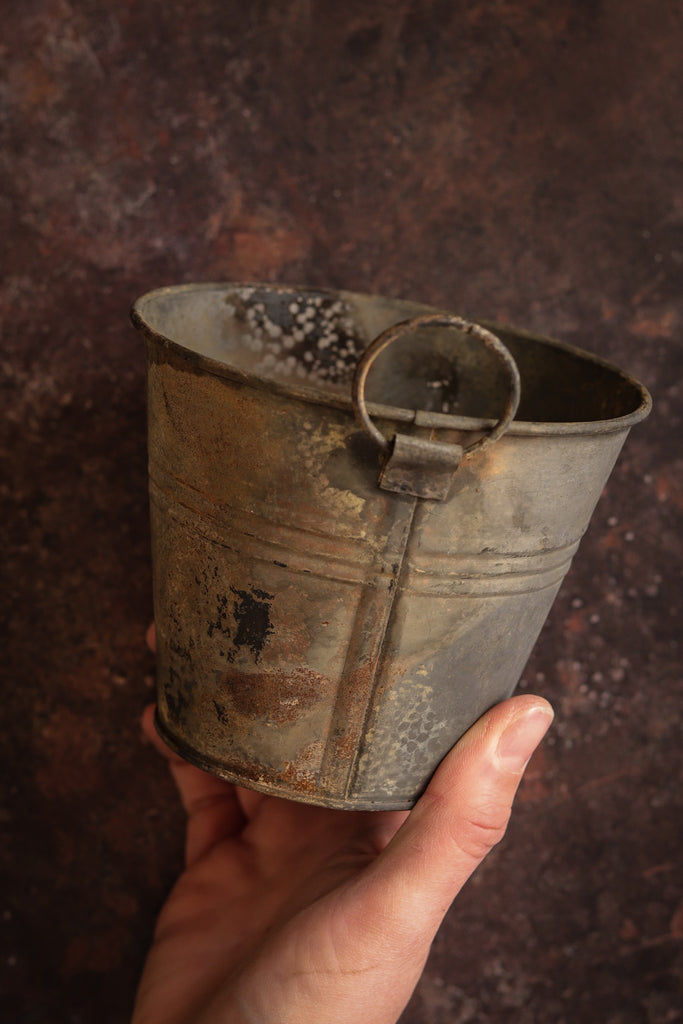 C1. Vintage tin herb bucket
